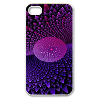 purple stars design Case for iPhone 4,4S