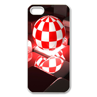 baseball white & red Case for Iphone 5