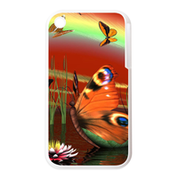 beauty butterfly on the water Personalized Cases for the IPhone 3