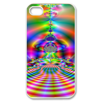 colorful sound wave Case for iPhone 4,4S