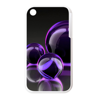 purple bubbles Personalized Cases for the IPhone 3