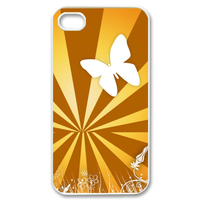 free butterfly Case for iPhone 4,4S