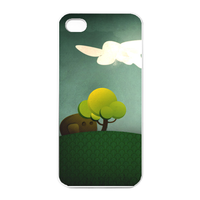 green garden Charging Case for Iphone 4