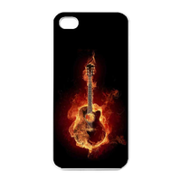 the burning guitar Charging Case for Iphone 4