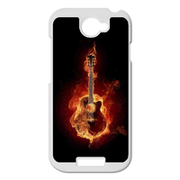 the burning guitar Personalized Case for HTC ONE S