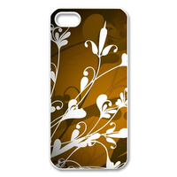 white flowers Case for Iphone 5