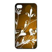 white flowers Charging Case for Iphone 4
