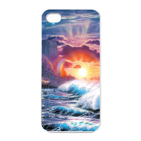 natural scenery Charging Case for Iphone 4