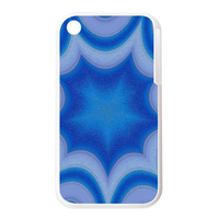 blue designs Personalized Cases for the IPhone 3