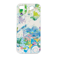 spring picture with birds Charging Case for Iphone 4