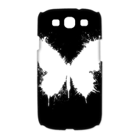 white butterfly Case for Samsung Galaxy S3 I9300 (3D)