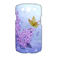 butterfly in the purple Case for Samsung Galaxy S3 I9300 (3D)