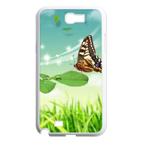 butterfly on the leaf Case for Samsung Galaxy Note 2 N7100