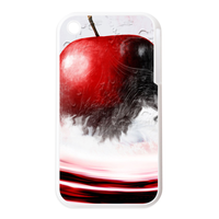 red apple Personalized Cases for the IPhone 3