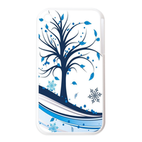 tree blue leaf Personalized Cases for the IPhone 3