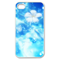 white ice flower Case for iPhone 4,4S