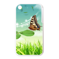 butterfly on the leaf Personalized Cases for the IPhone 3