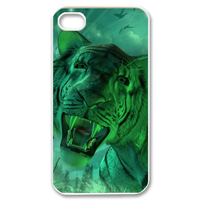 green tiger Case for iPhone 4,4S