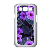 purple flowers Case for Samsung Galaxy S3 I9300