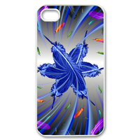 feather flower Case for iPhone 4,4S