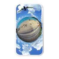 the earth with cloud Personalized Cases for the IPhone 3