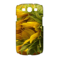 yellow flowers Case for Samsung Galaxy S3 I9300 (3D)