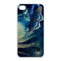 butterfly with the peacock Case for Iphone 4,4s (TPU)