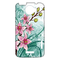 pink flowers with fruit Case for HTC One X +