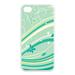 flower green leaf design Case for Iphone 4,4s (TPU)