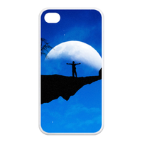 night moon Case for Iphone 4,4s (TPU)