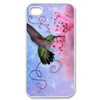 bird with flower Case for iPhone 4,4S