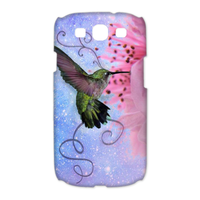 bird with flower Case for Samsung Galaxy S3 I9300 (3D)
