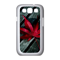 red maple leaf on the wood Case for Samsung Galaxy S3 I9300