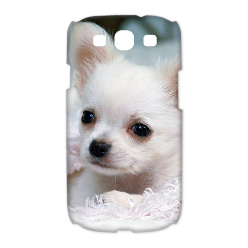 small white dog Case for Samsung Galaxy S3 I9300 (3D)