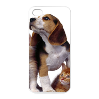 dog with 3 cats Charging Case for Iphone 4