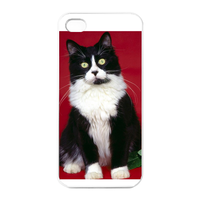 young cat Charging Case for Iphone 4