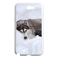 siberian husky in the snow Case for Samsung Galaxy Note 2 N7100