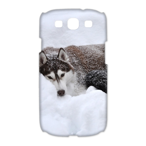 siberian husky in the snow Case for Samsung Galaxy S3 I9300 (3D)