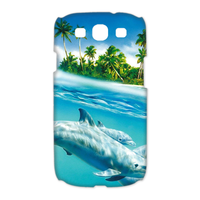 dolphins Case for Samsung Galaxy S3 I9300 (3D)