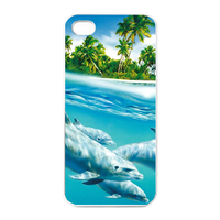 dolphins Charging Case for Iphone 4