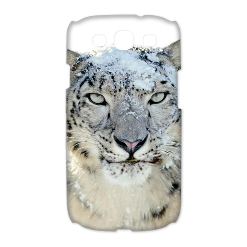 white leopard Case for Samsung Galaxy S3 I9300 (3D)