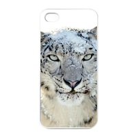 white leopard Charging Case for Iphone 4