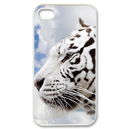 white tiger Case for iPhone 4,4S