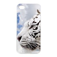 white tiger Charging Case for Iphone 4
