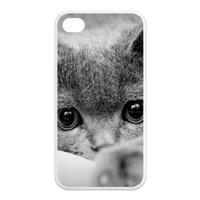 grey cat Case for Iphone 4,4s (TPU)