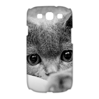 grey cat Case for Samsung Galaxy S3 I9300 (3D)