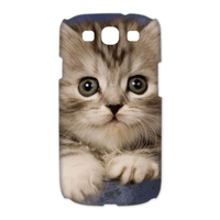 little brown cat Case for Samsung Galaxy S3 I9300 (3D)