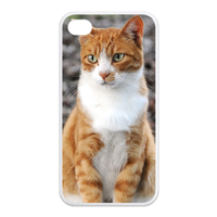 Mr cat Case for Iphone 4,4s (TPU)
