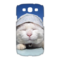 the cat in sunshine Case for Samsung Galaxy S3 I9300 (3D)