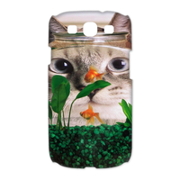 the glass cat Case for Samsung Galaxy S3 I9300 (3D)